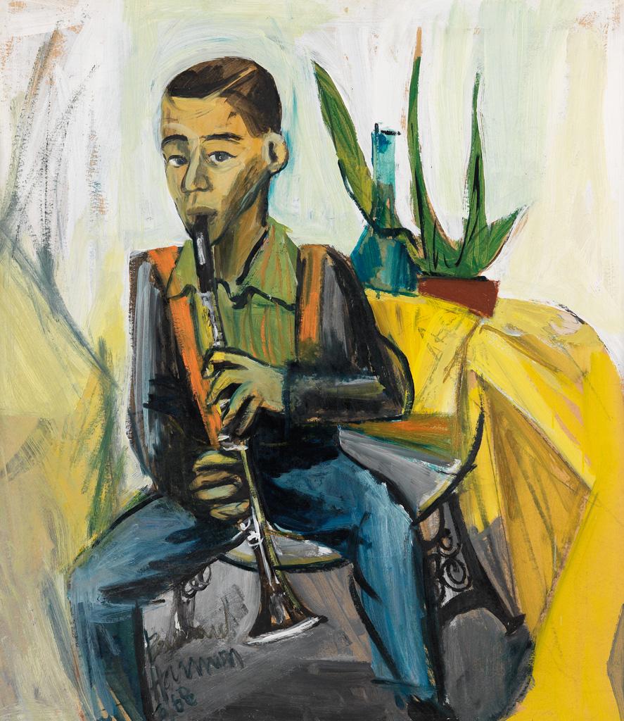 BERNARD HARMON (1935 - 1989) Musician Boy.