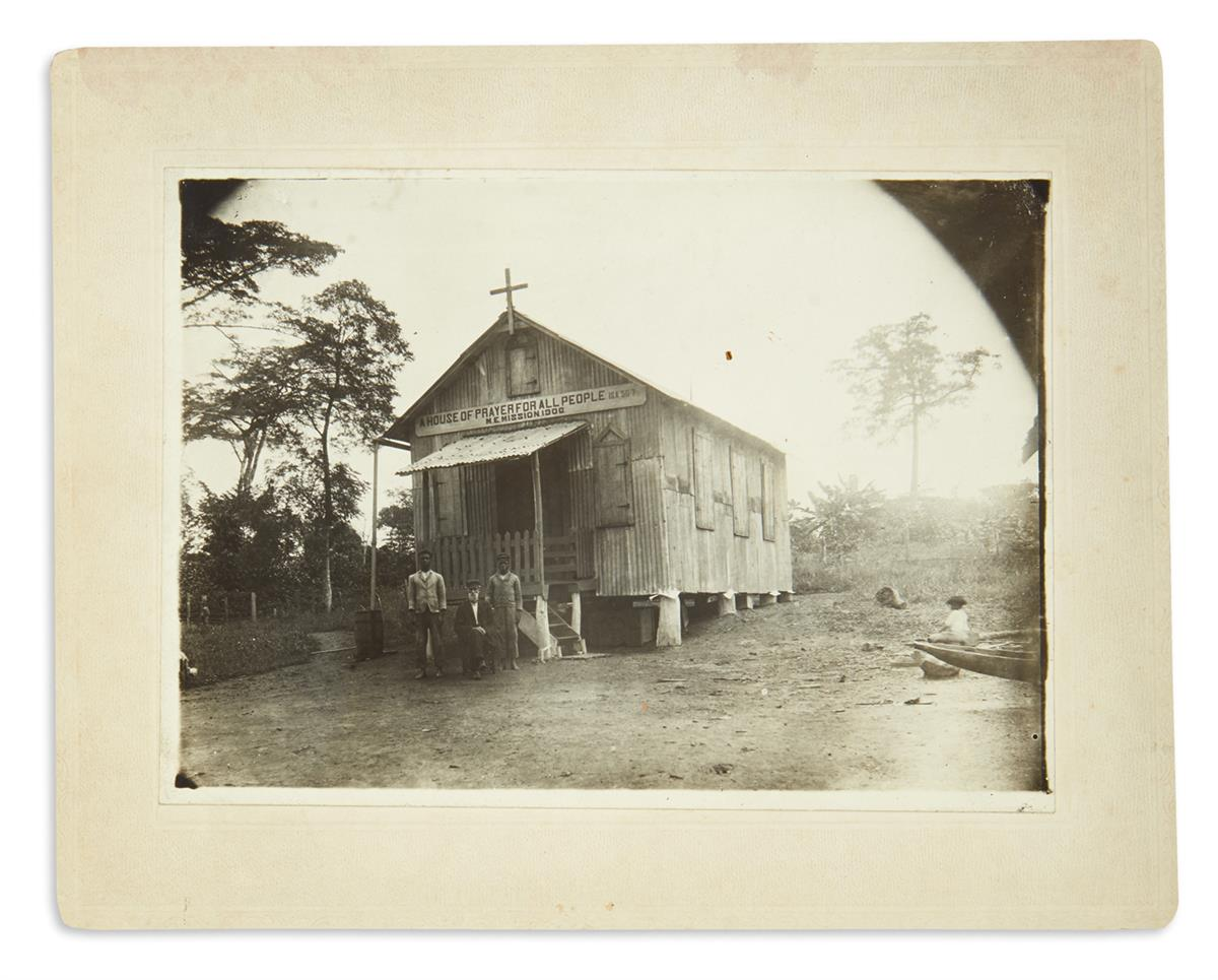 (AFRICA.) Group of photographs of a Methodist Episcopal mission in rural Liberia.