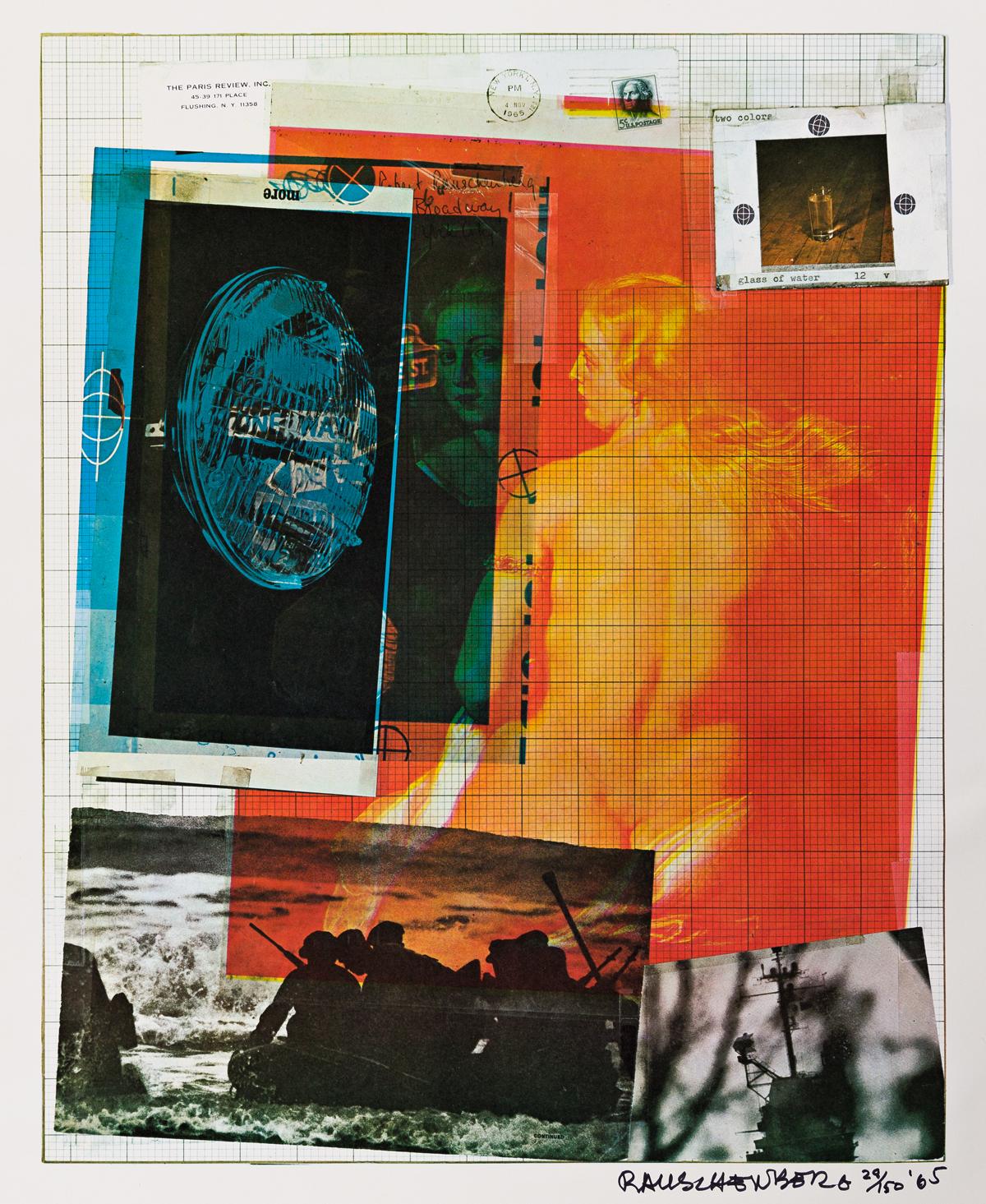 ROBERT RAUSCHENBERG Paris Review Poster.