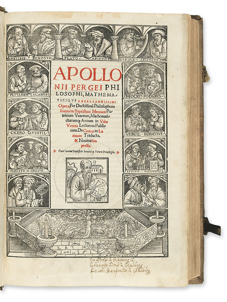 ARCHIMEDES-Opera-omnia--1544--Bound-after-APOLLONIUS-of-Perg