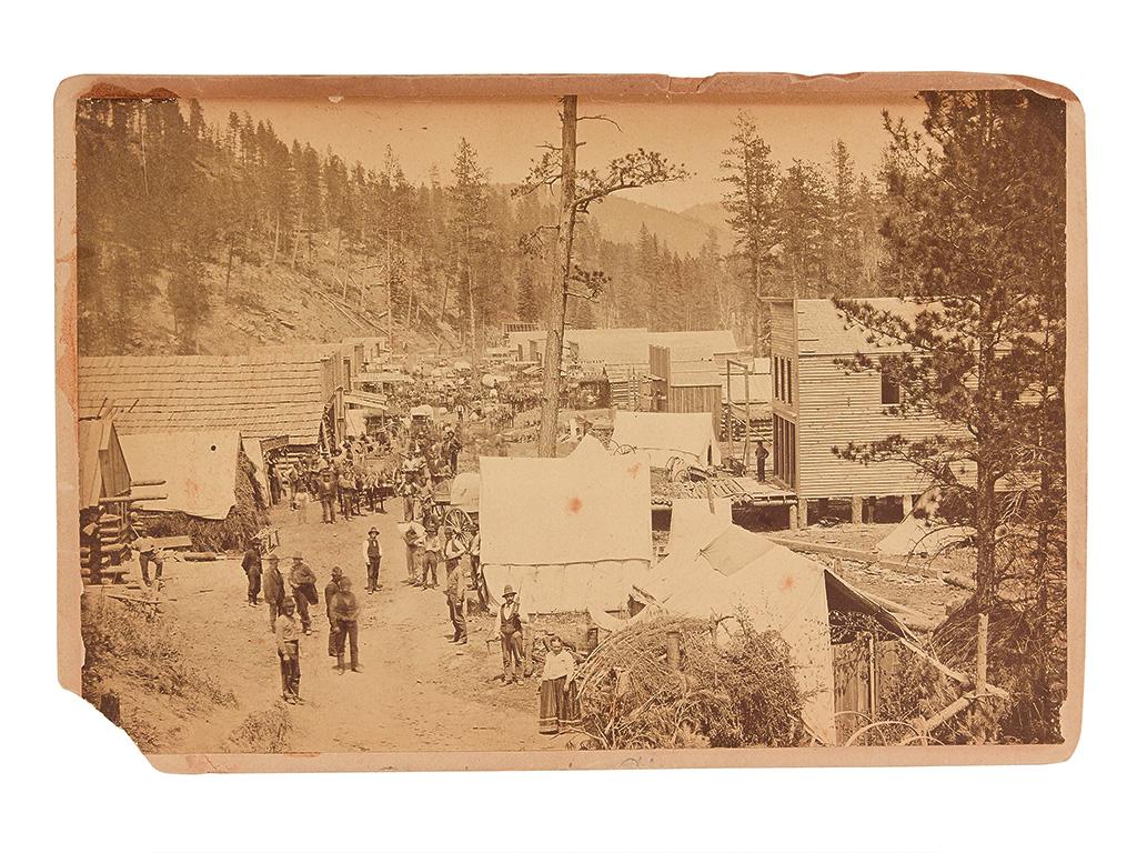 (SOUTH DAKOTA.) [Chamberlain, William G.; photographer.] A very early view of Deadwood.