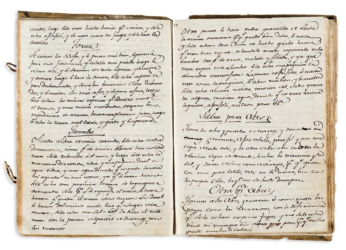 (MEXICAN COOKERY.) Quaderno que manifiesta el modo de hacer varias cosas curiosas de cocina.