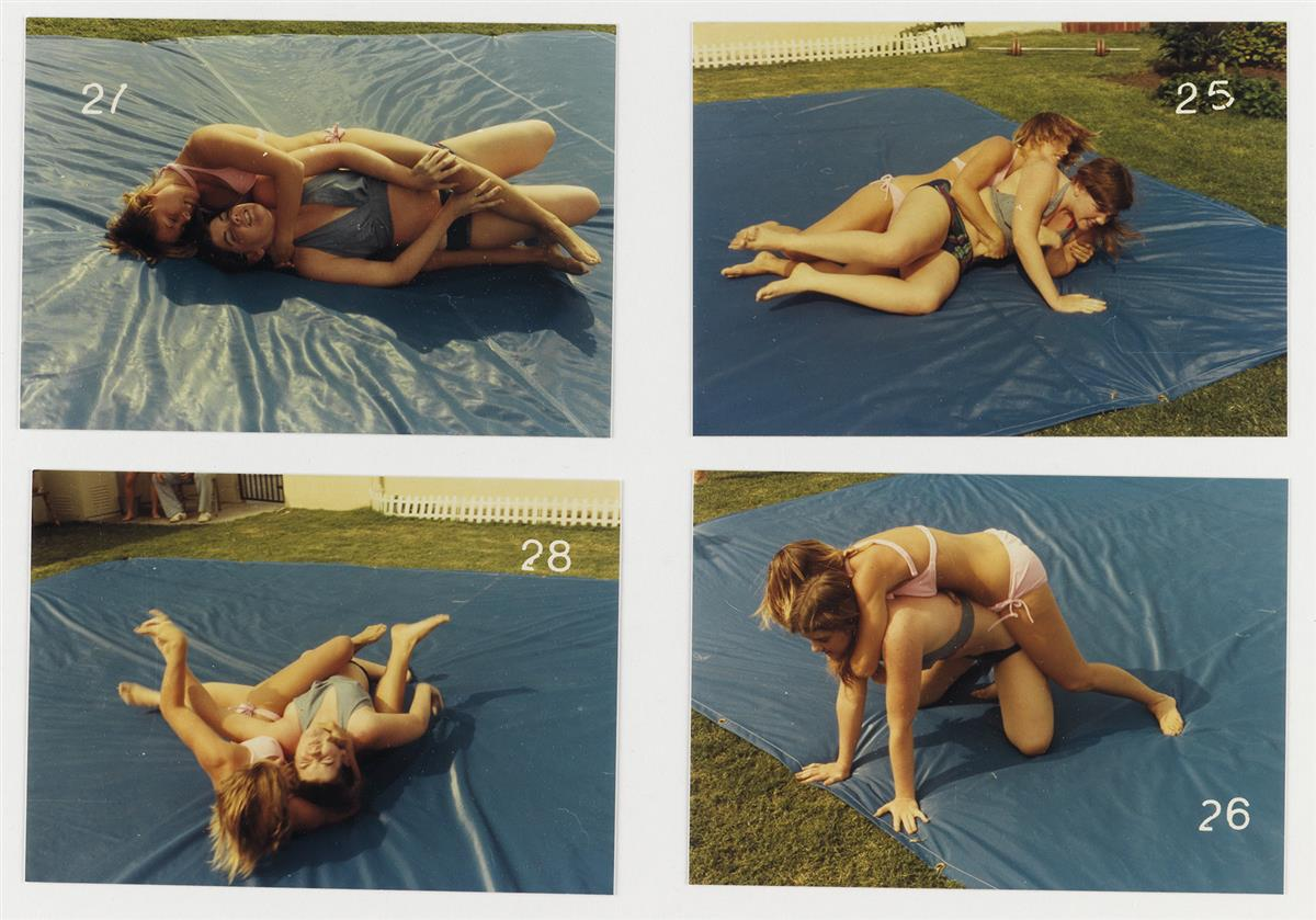 (FEMALE-WRESTLING)-Two-complete-sets-(with-a-total-of-129-ph