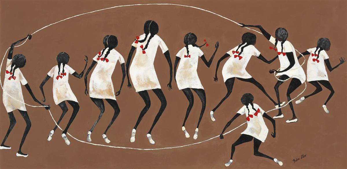 BARBARA JOHNSON ZUBER (1926 - 2019) Jump Rope.