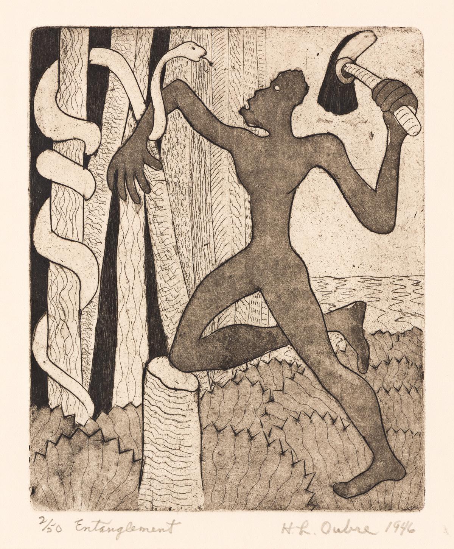 HAYWARD OUBRE (1916 - 2006) Entanglement.