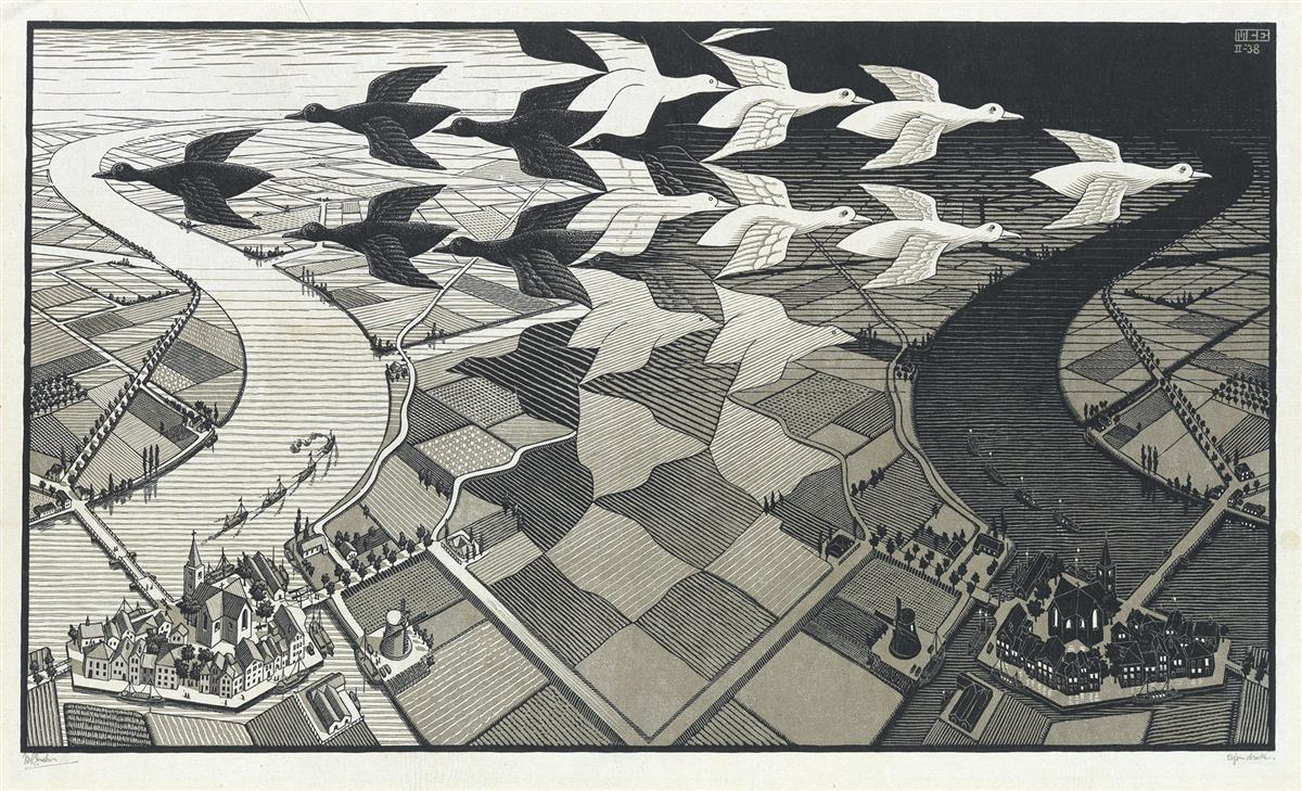 MAURITS-C-ESCHER-Day-and-Night