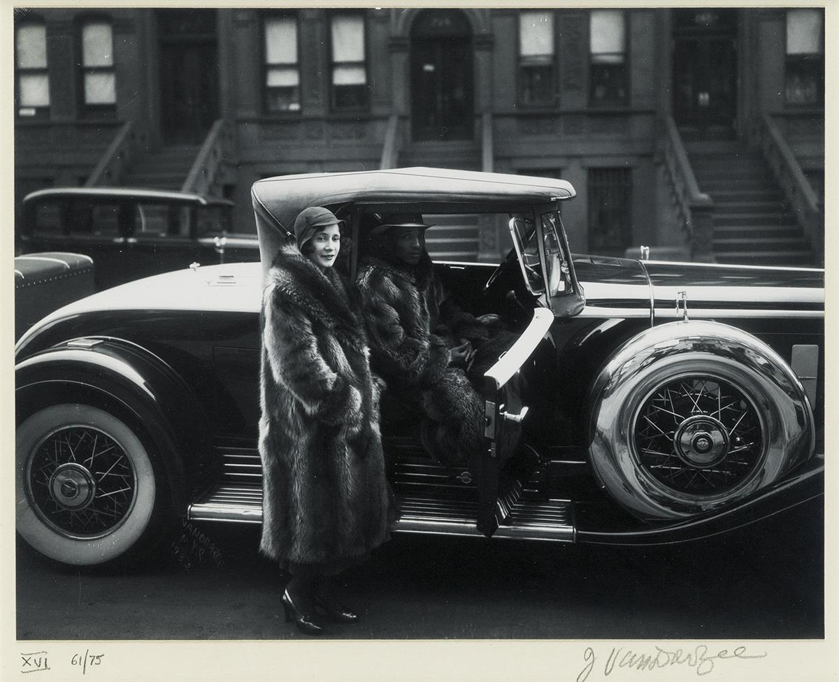JAMES-VANDERZEE-(1886---1983)-Couple-Harlem-(Couple-in-Raccoon-Coats)