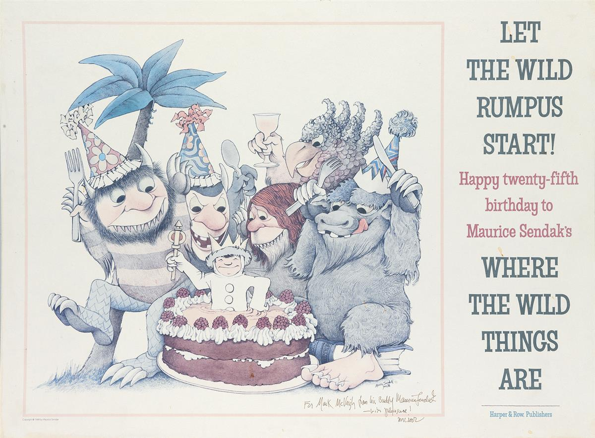 SENDAK-MAURICE--CHILDRENS-BOOKS-Let-the-Wild-Rumpus-Start