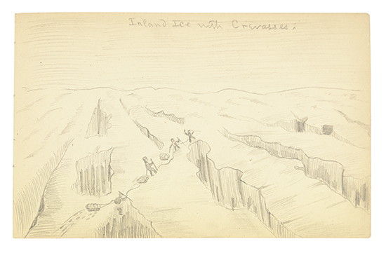 (ARCTIC--GREENLAND.) Mills, Jackson M. Original sketchbook from the 1892 Peary Relief Expedition.