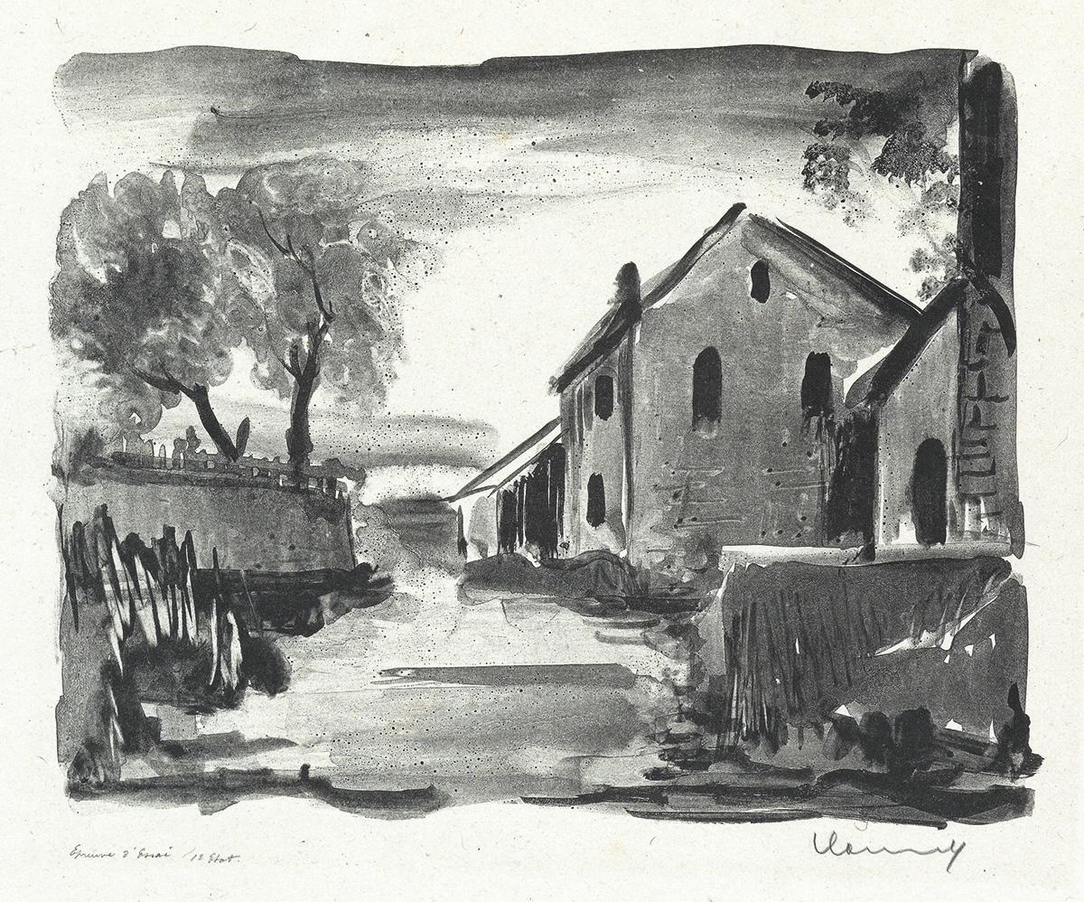 MAURICE-DE-VLAMINCK-Two-lithographs