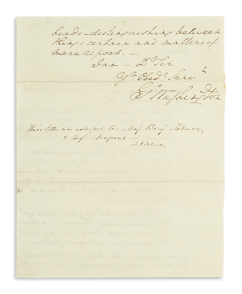 (AMERICAN-REVOLUTION)-WASHINGTON-GEORGE-Autograph-Letter-Sig