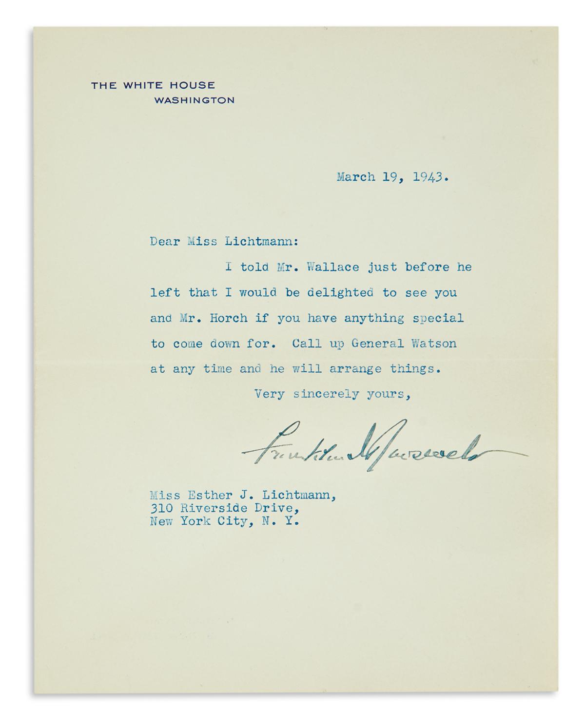 ROOSEVELT-FRANKLIN-D-Typed-Letter-Signed-as-President-to-Est