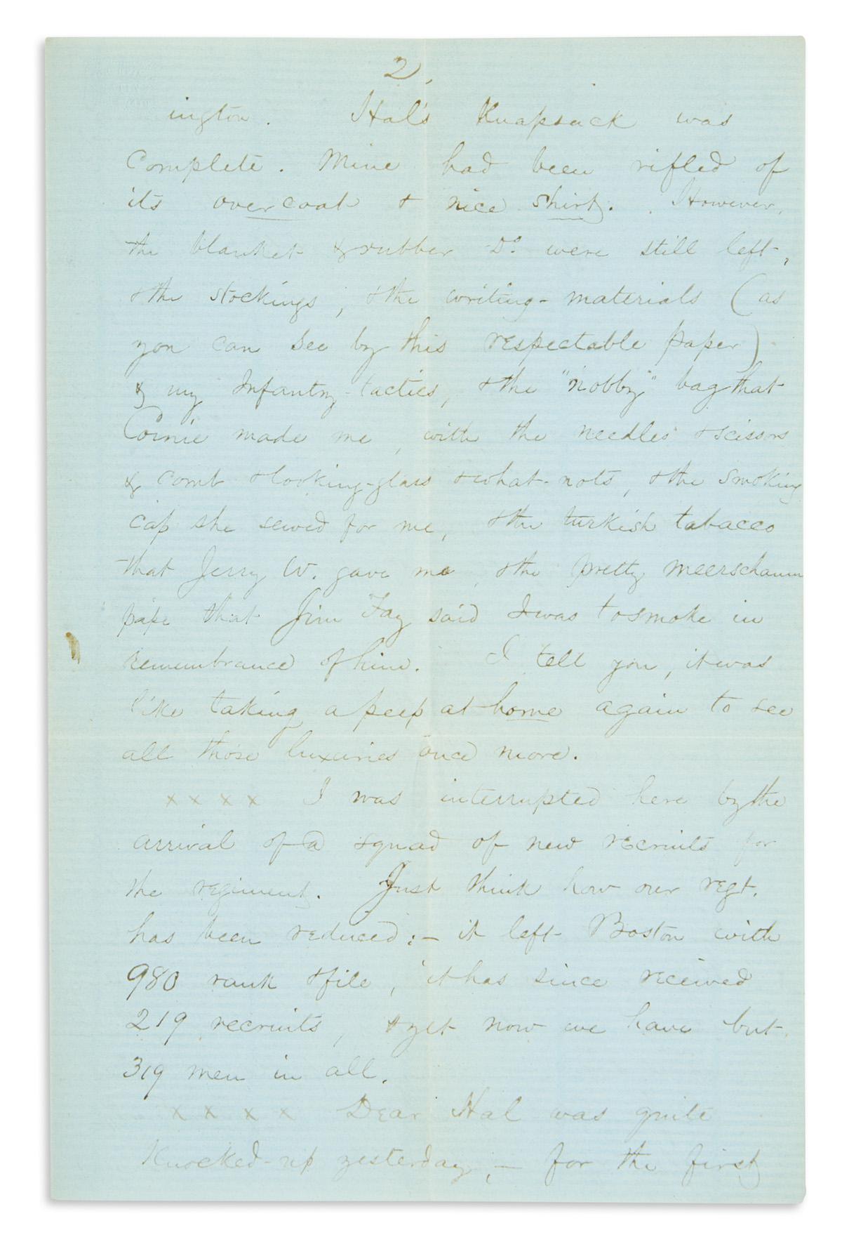 (CIVIL-WAR--MASSACHUSETTS)-Stone-James-Kent-Letter-describin