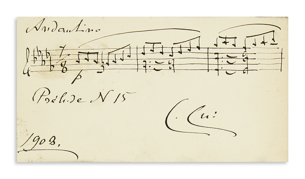CUI-CÉSAR-Autograph-Musical-Quotation-dated-and-Signed-C-Cui