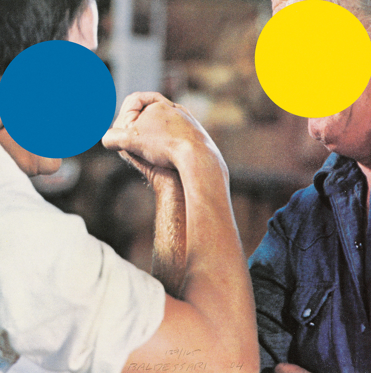 JOHN BALDESSARI Two Opponents (Blue and Yellow).