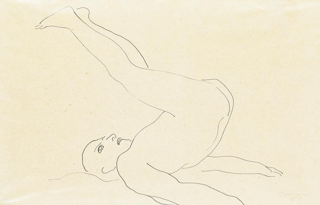 ISAMU-NOGUCHI-Male-Nude-with-Raised-Legs