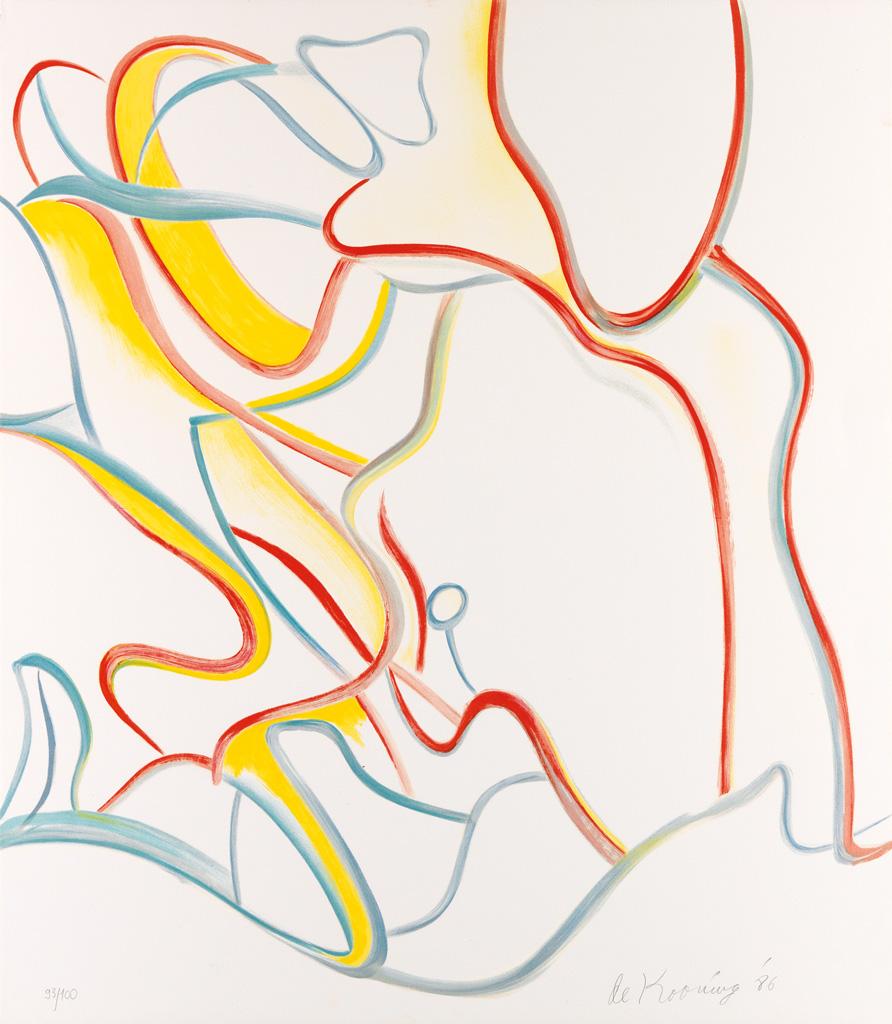 WILLEM DE KOONING Untitled: Quatre Lithographies.