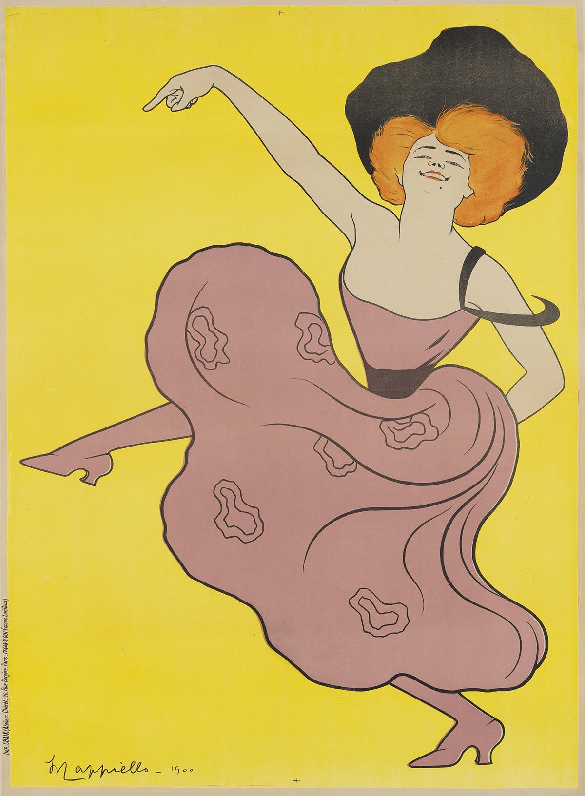 LEONETTO CAPPIELLO (1875-1942). [FOLIES - BERGÈRE / SPECTACLE VARIÉ.] 1900. 48x35 inches, 123x89 cm. Chaix, Paris.