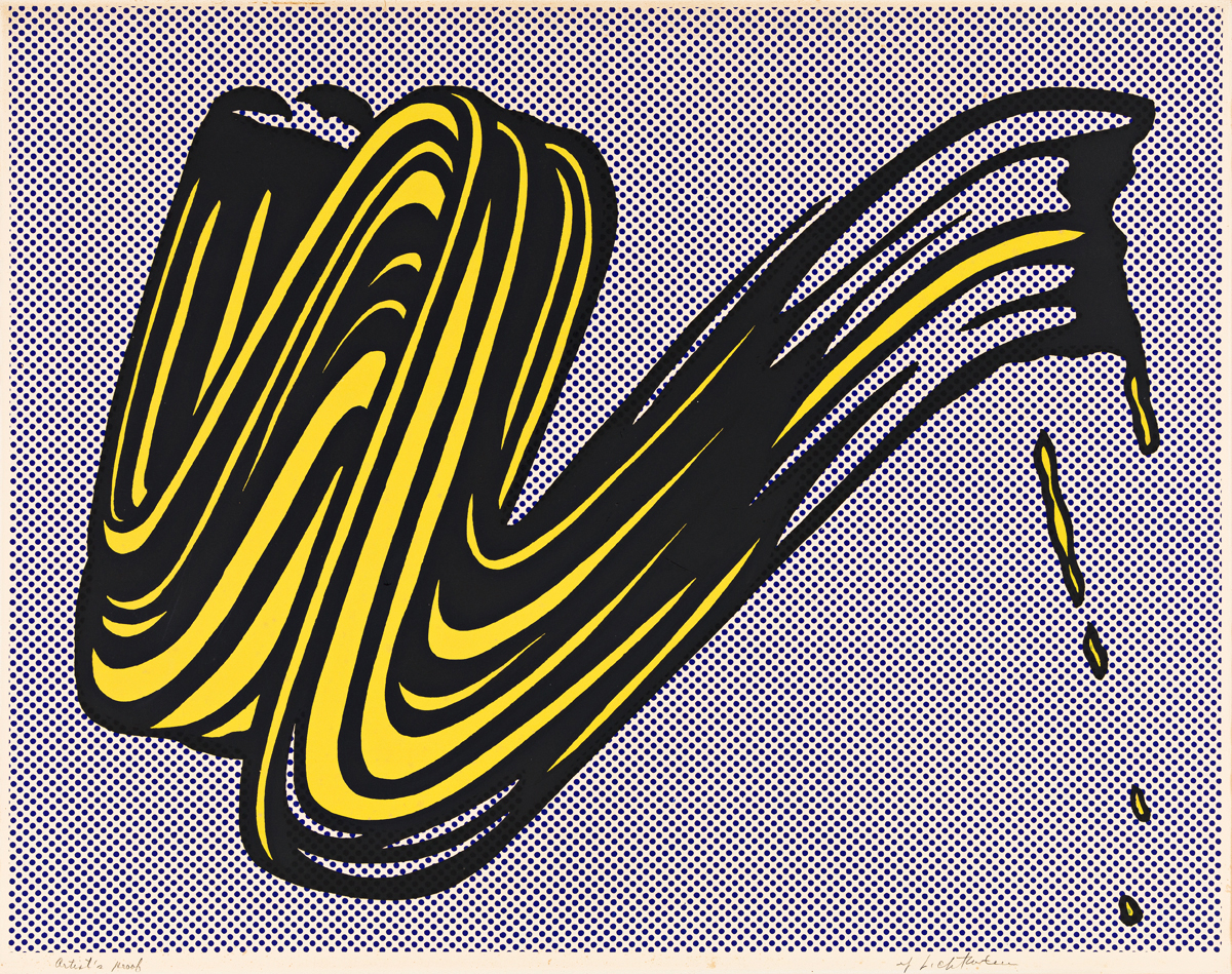 ROY LICHTENSTEIN Brushstroke.