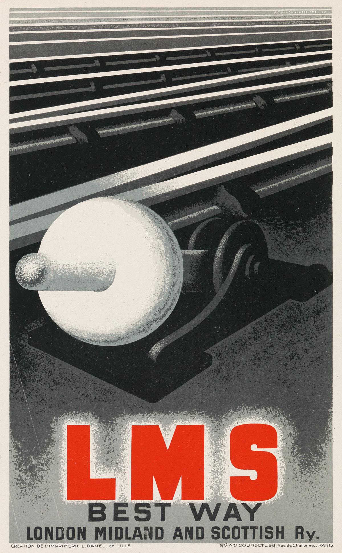 ADOLPHE-MOURON-CASSANDRE-(1901-1968)-[RAILROAD-GRAPHICS]-Two