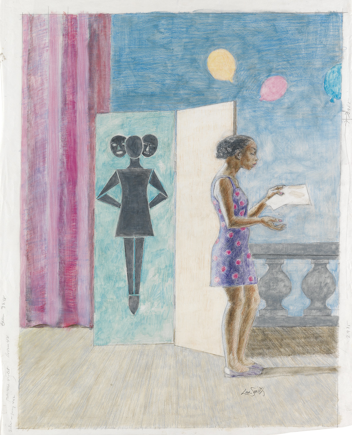 HUGHIE LEE-SMITH (1915 - 1999) Untitled (Study for Actress).