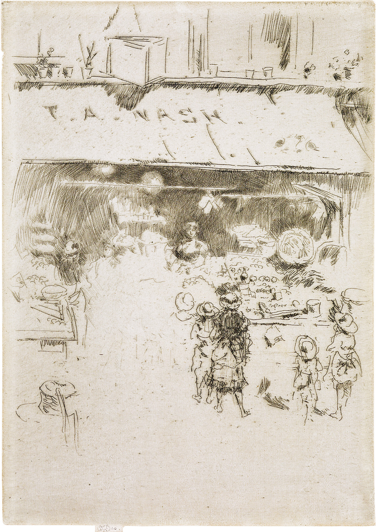 JAMES A. M. WHISTLER T. A. Nashs Greengrocers Shop.