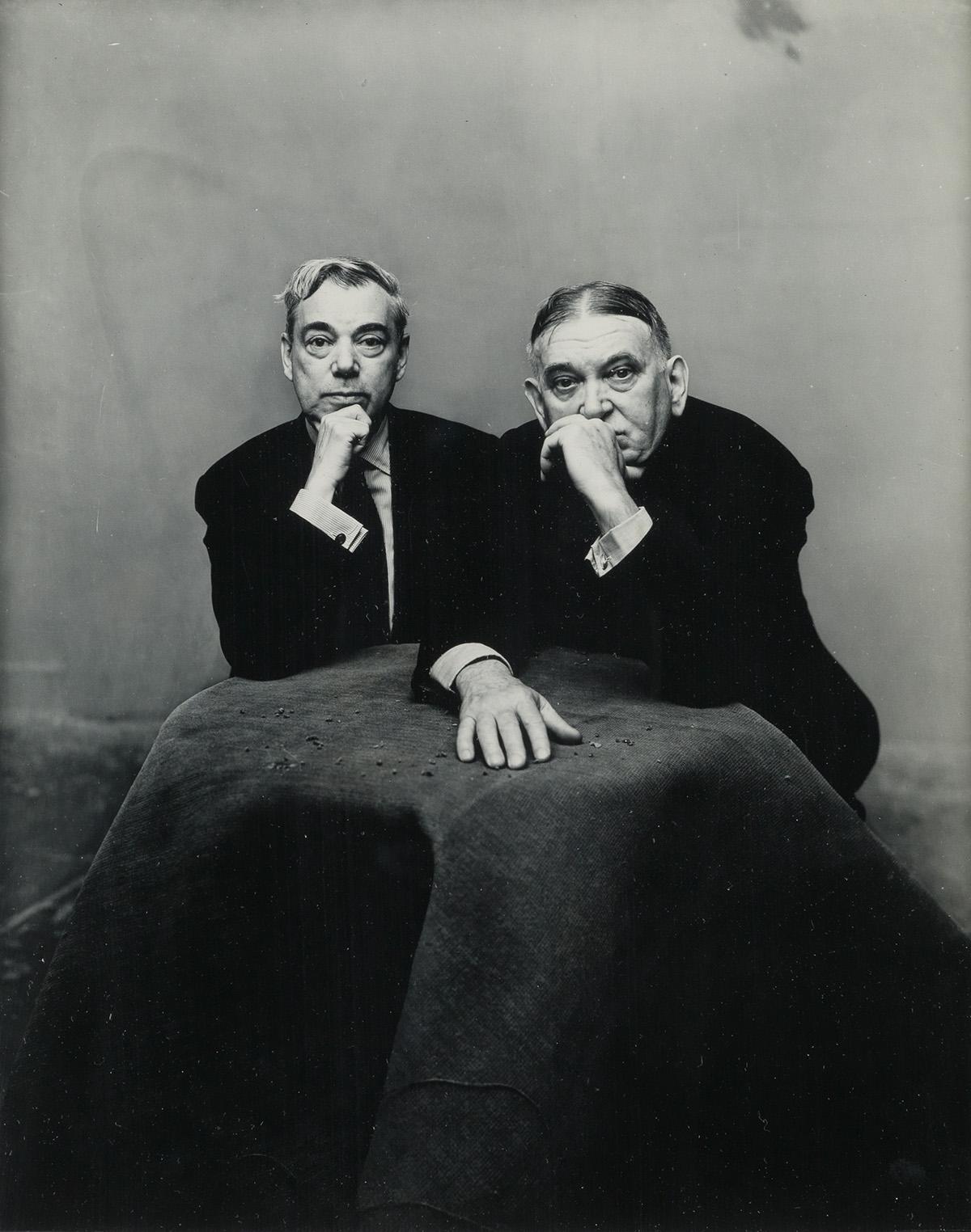 IRVING-PENN-(1917-2009)-George-Jean-Nathan-and-HL-Mencken-Ne