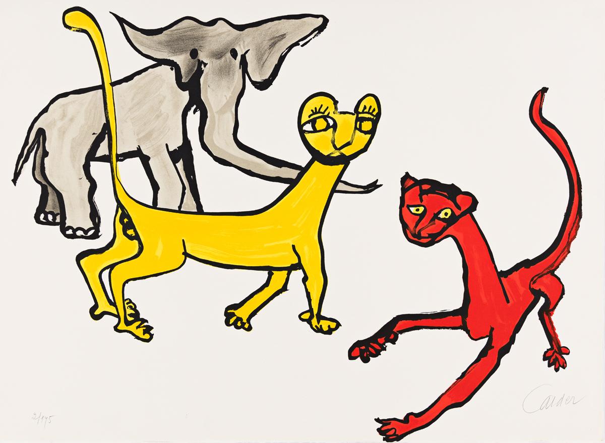 ALEXANDER CALDER Our Unfinished Revolution (Animals).