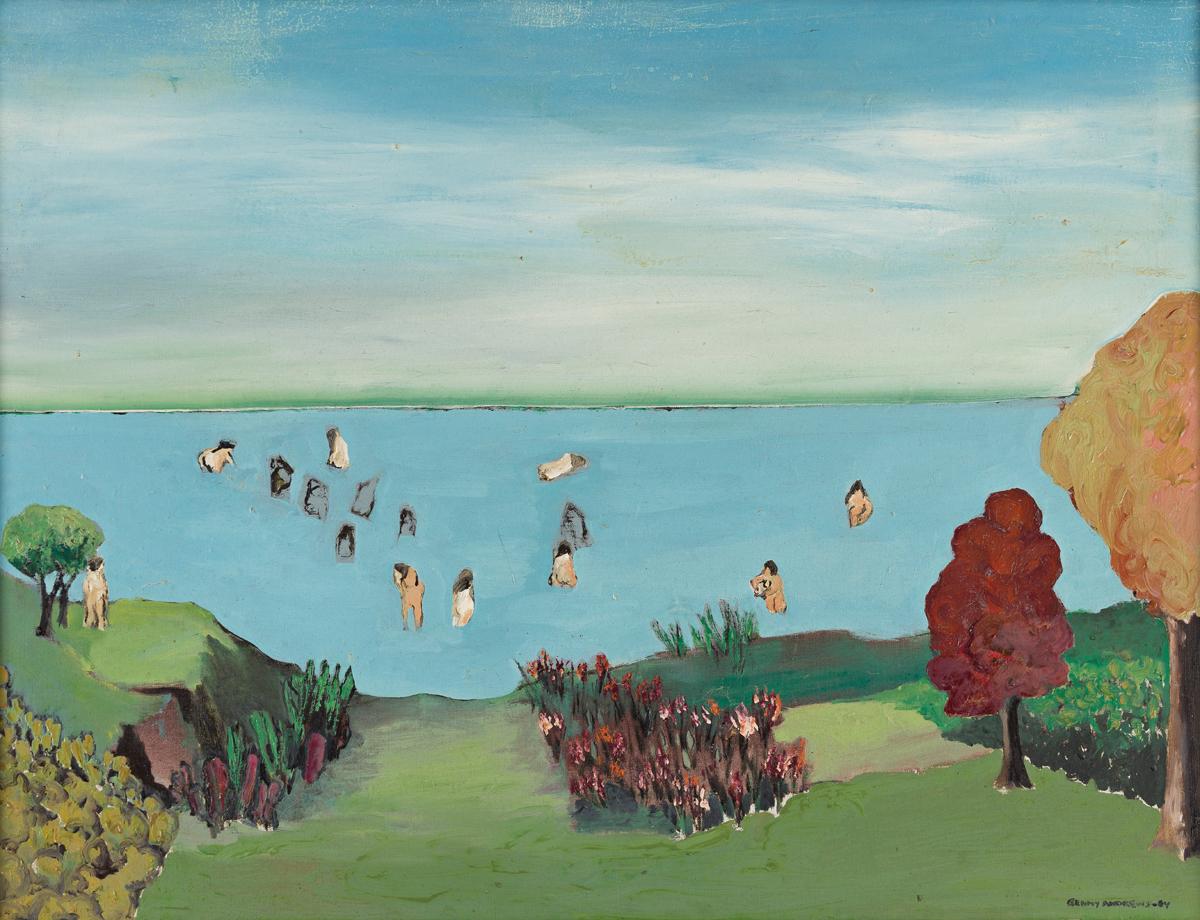 BENNY ANDREWS (1930 - 2006) Bather on the Horizon.