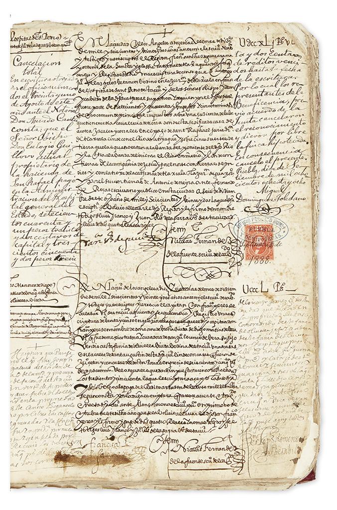 (MEXICO--PUEBLA.) Register of lease contracts from Puebla de los Angeles.
