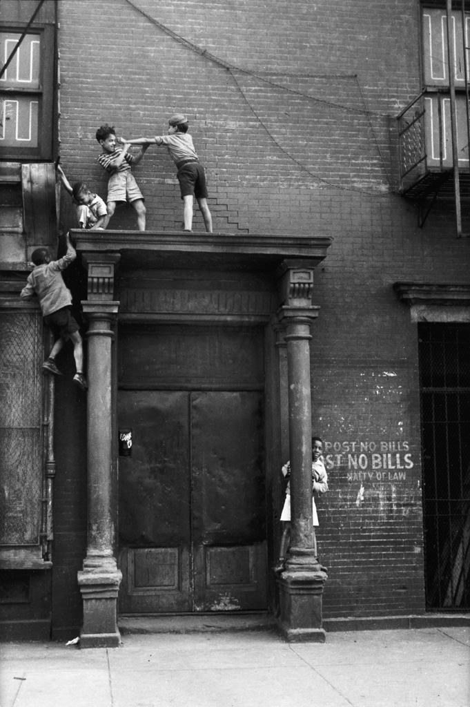 HELEN LEVITT (1913-2009) New York City (boys on a pediment).