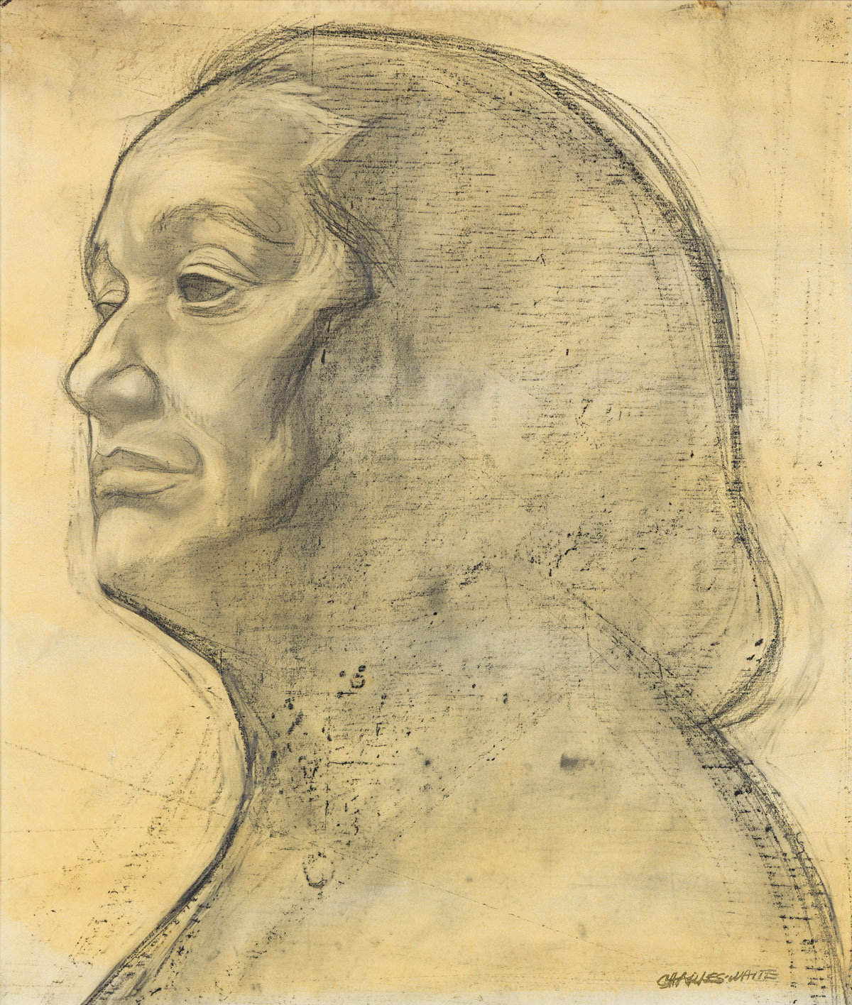 CHARLES WHITE (1918 - 1979) Untitled (Study for Matriarch)