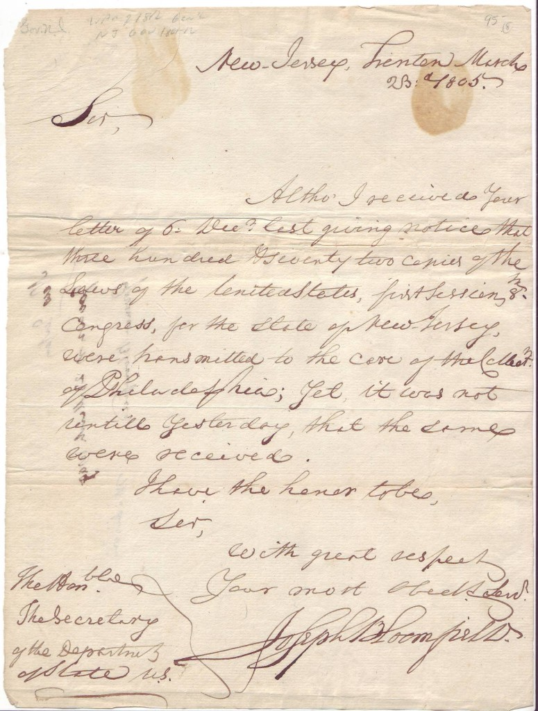 BLOOMFIELD-JOSEPH-Autograph-Letter-Signed-as-Governor-to-Sec