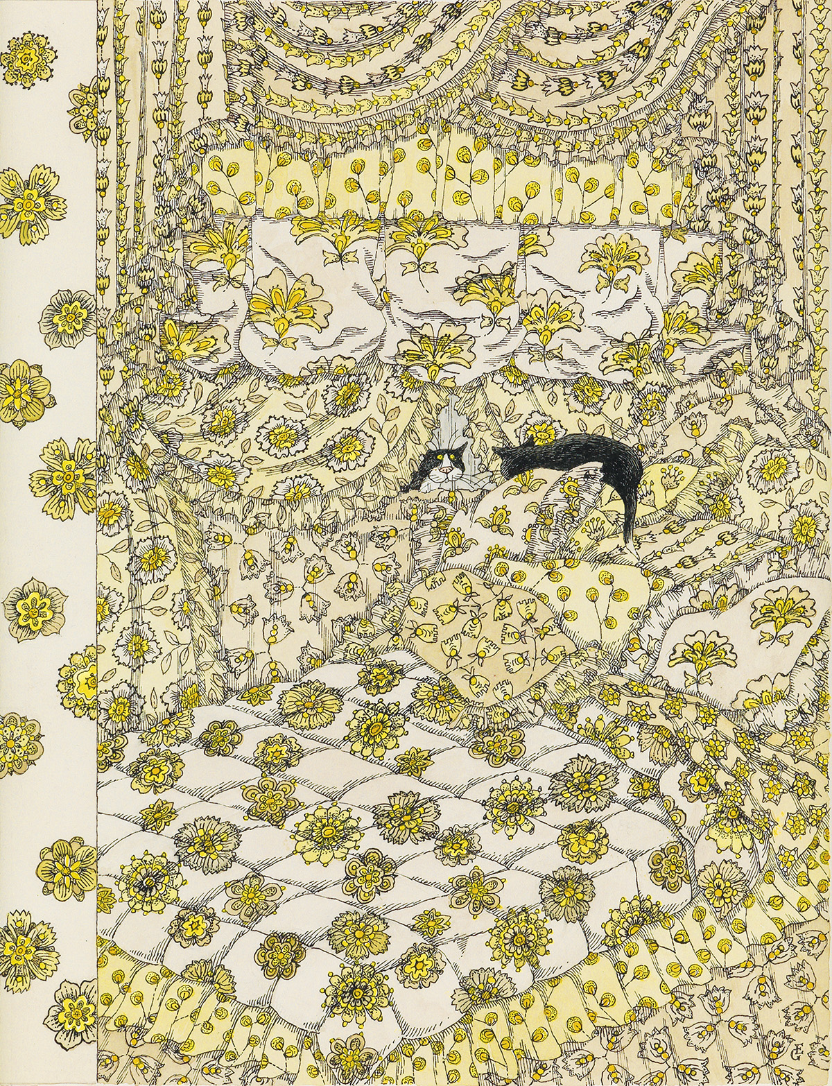 EDWARD-GOREY-(THE-NEW-YORKER--COVER)-Cat-Fancy
