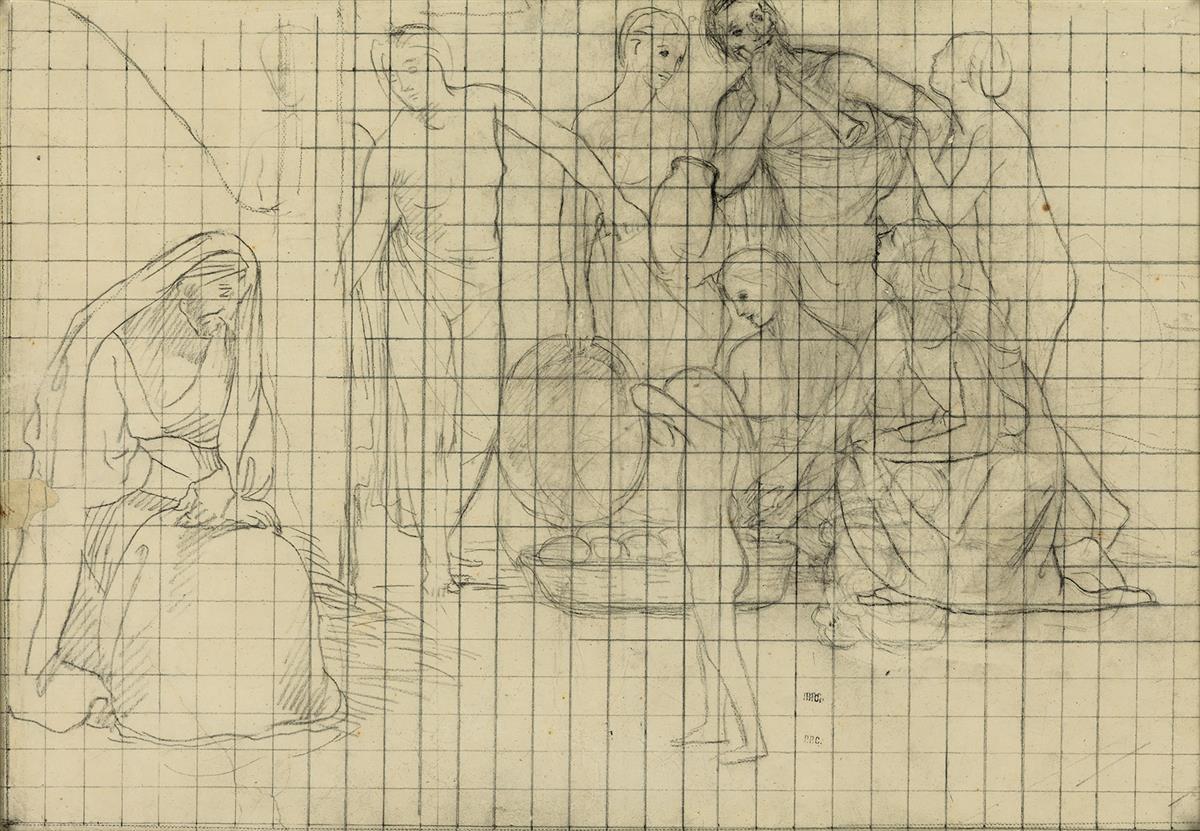 PIERRE PUVIS DE CHAVANNES (Lyon 1824-1898 Paris) Study for a Harvest Scene.