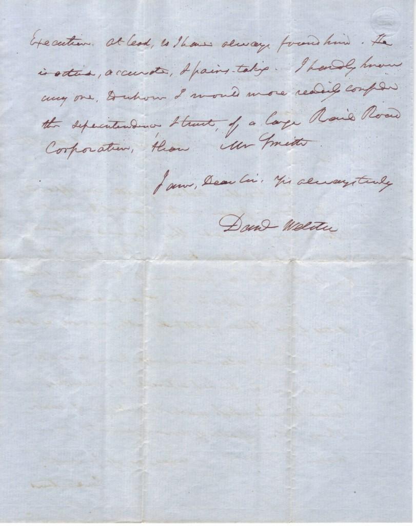 WEBSTER-DANIEL-Autograph-Letter-Signed-Danl-Webster-as-Senat