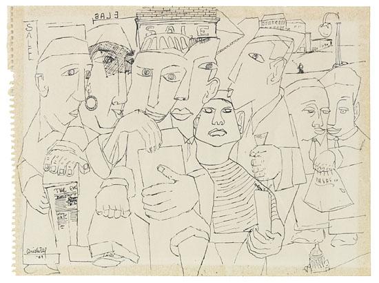 (ART.) DRISKELL, DAVID CLYDE. Street-corner (supplied title).