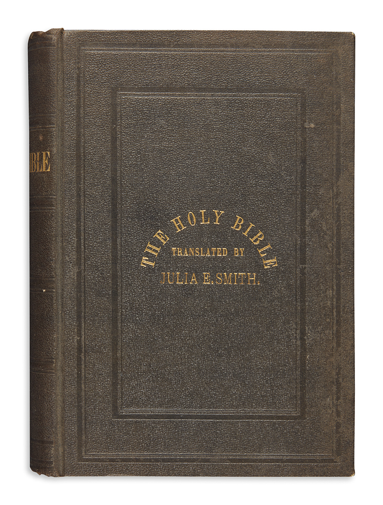 (BIBLE IN ENGLISH.) The first published translation of the Bible by a woman, with her fathers Greek New Testament