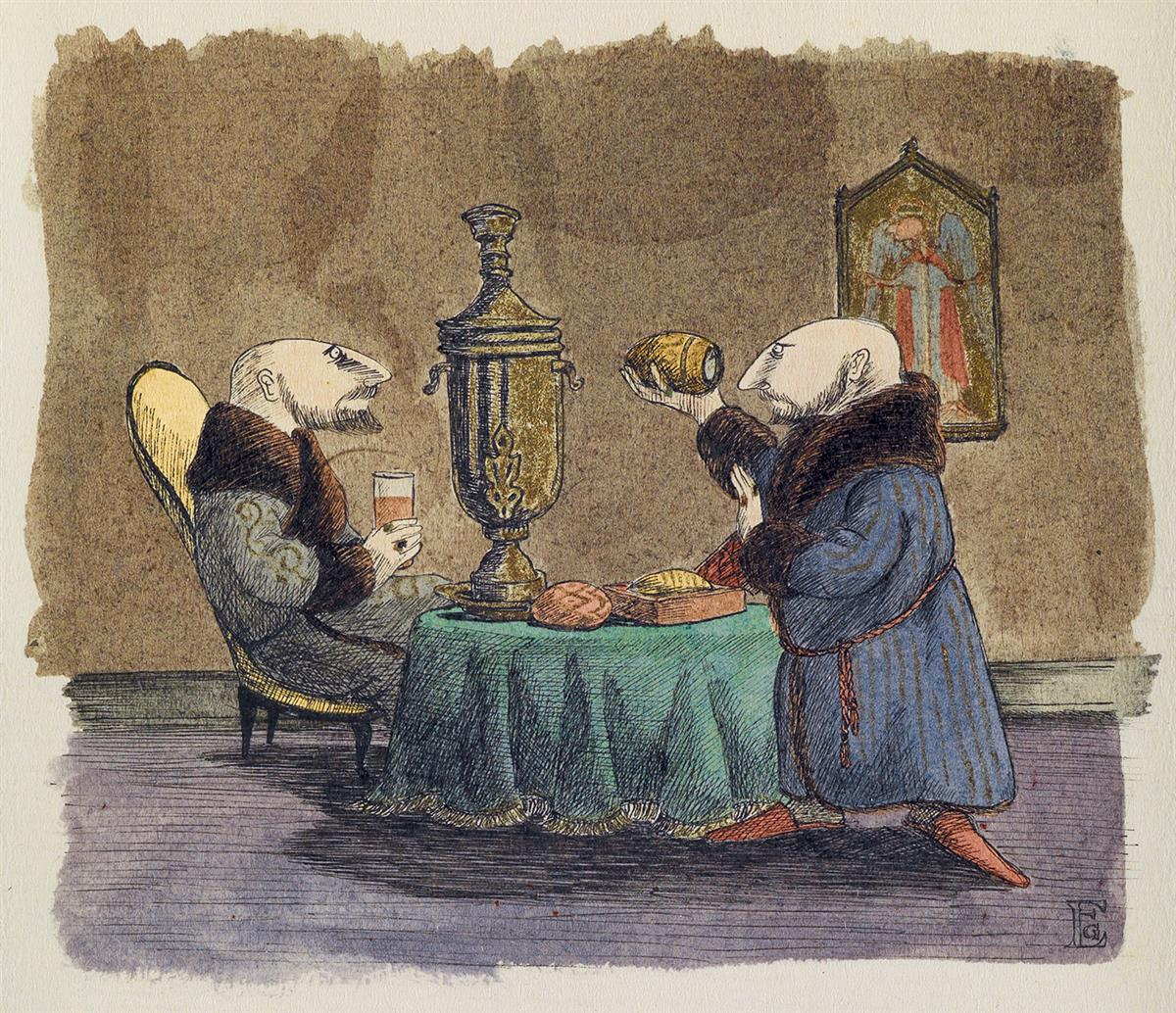 EDWARD GOREY. Two Russians at Easter Tea.