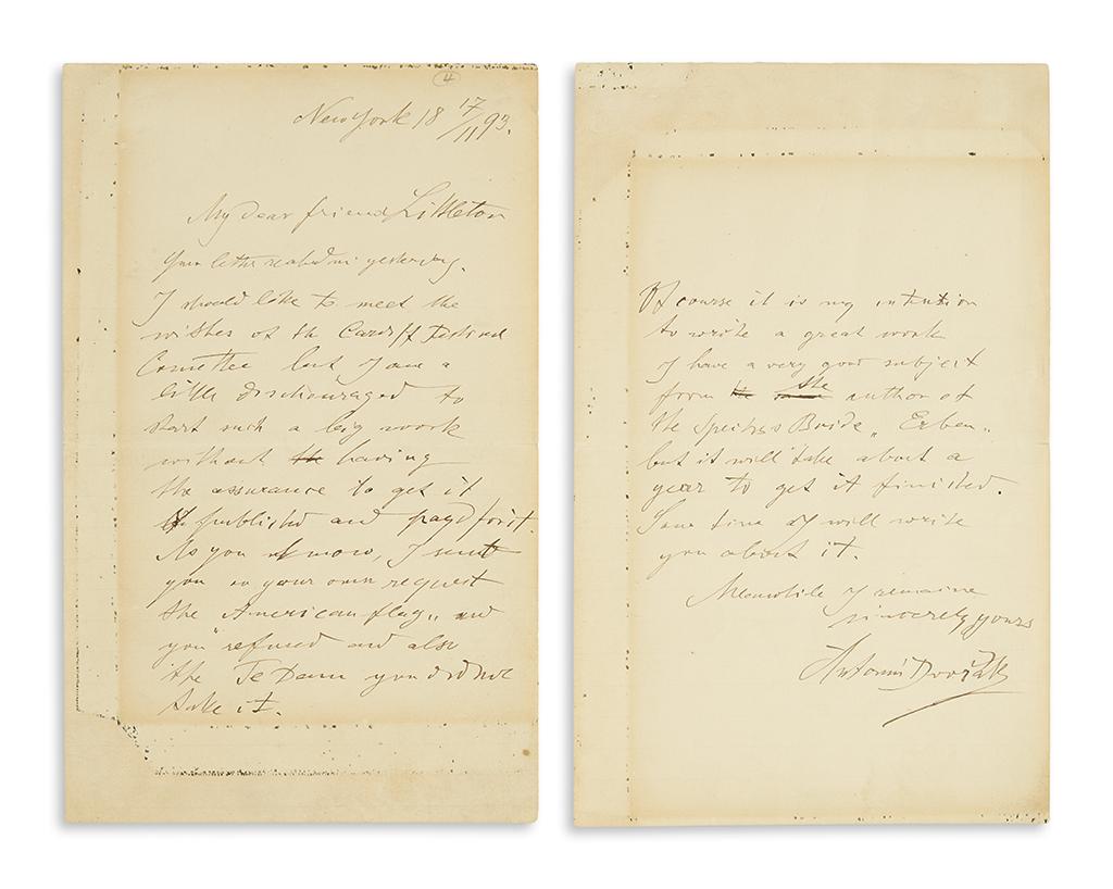 DVORÁK-ANTONÍN-Autograph-Letter-Signed-to-music-publisher-Al