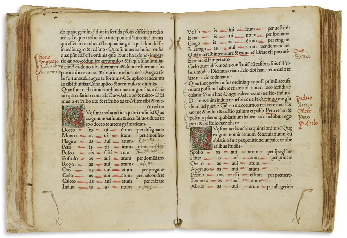 Perottus, Nicolaus [aka Niccolò Perotti] (1429-1480) Rudimenta Grammatices.