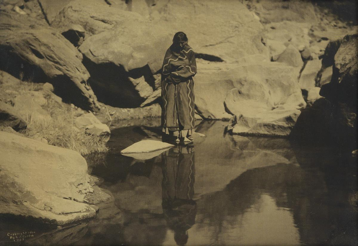 EDWARD-S-CURTIS-(1868-1952)-Natures-Mirror-Navajo