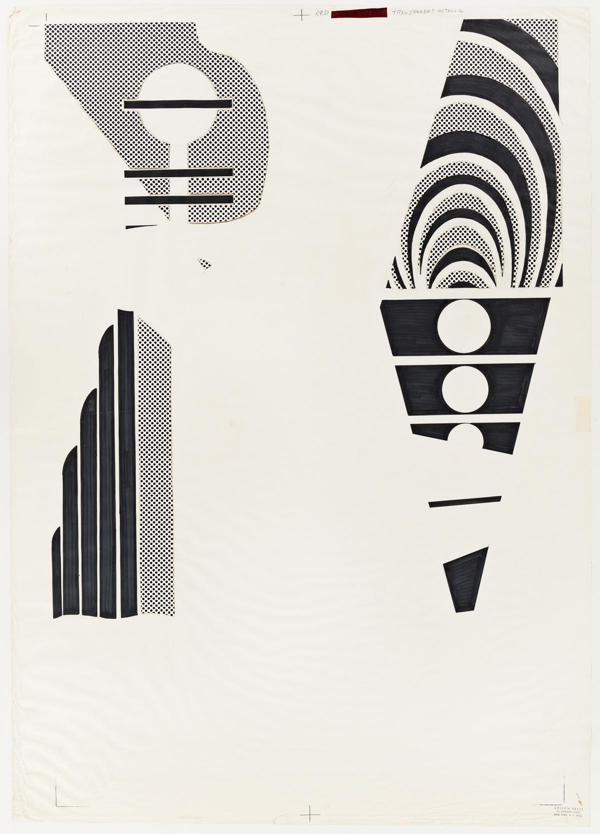 ROY LICHTENSTEIN Three preparatory works for Lincoln Center Poster.