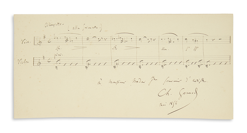 GOUNOD-CHARLES-Two-items-each-Signed-Ch-Gounod-Autograph-Mus