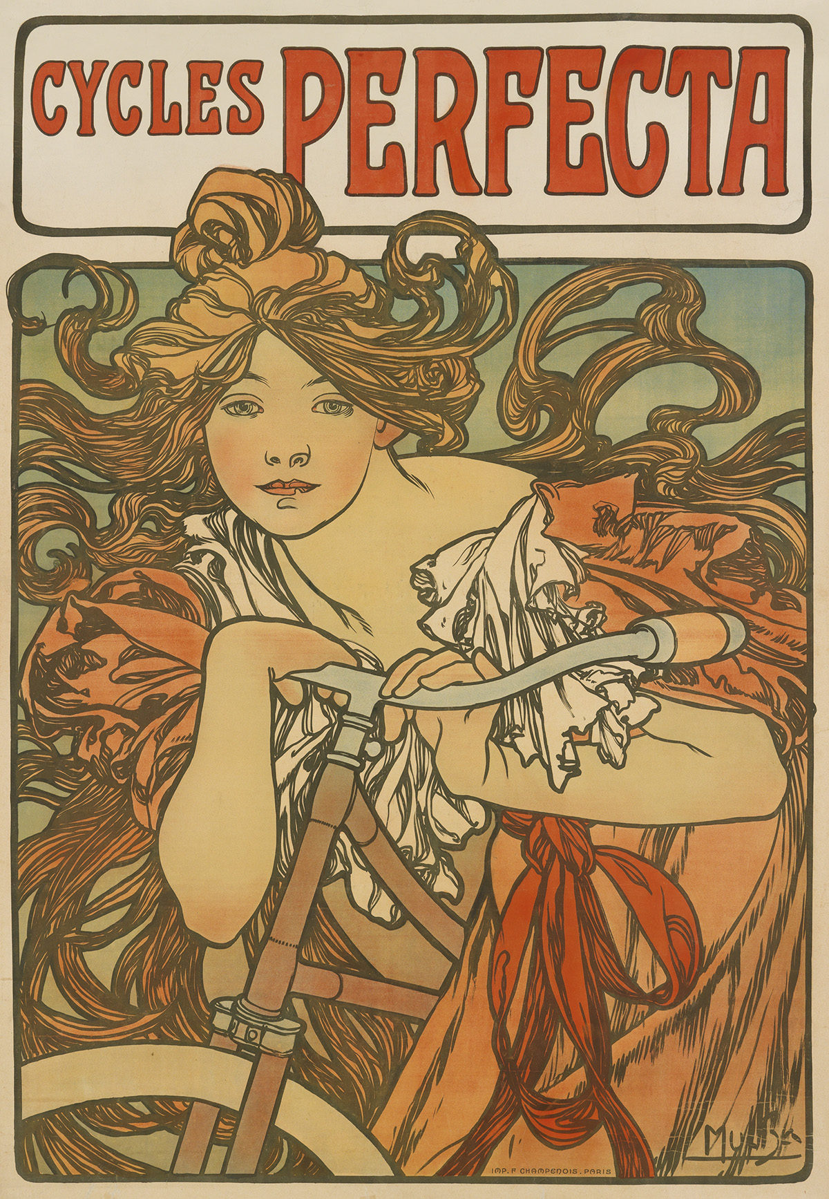 ALPHONSE-MUCHA-(1860-1939)-CYCLES-PERFECTA-1897-57x39-inches