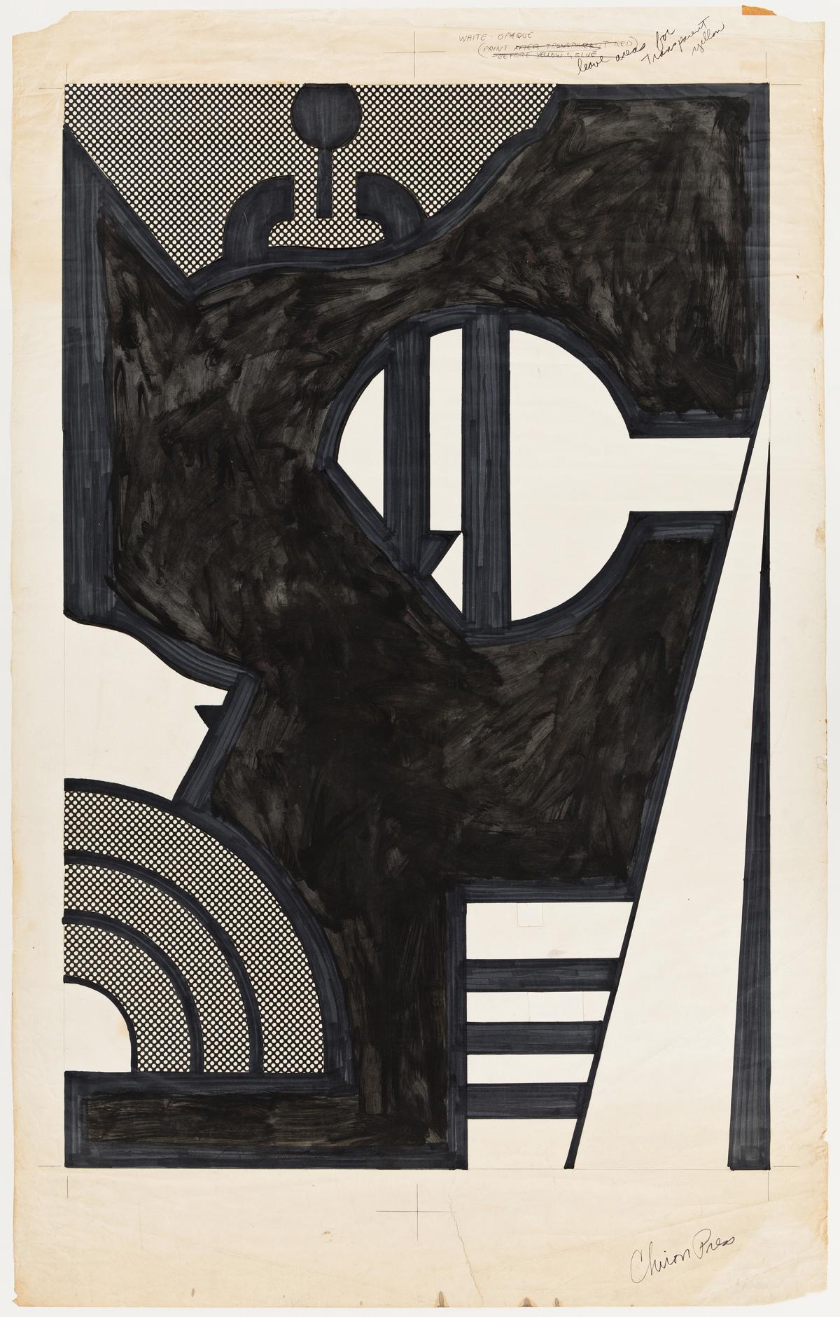 ROY LICHTENSTEIN Paris Review Poster.