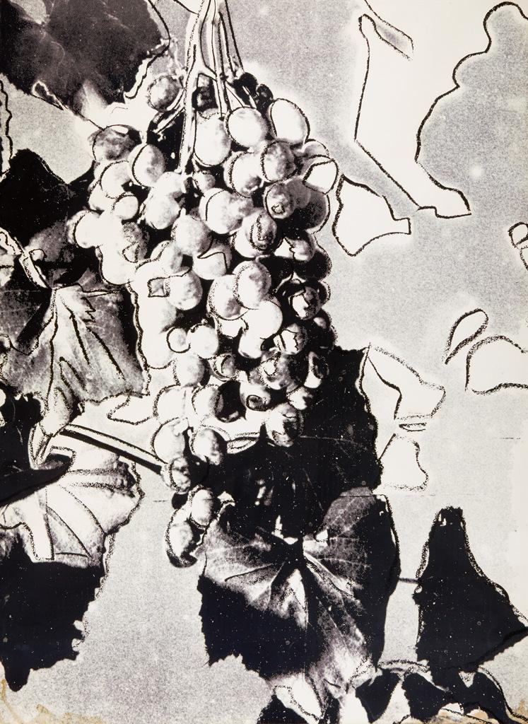 ANDY WARHOL Grapes (Black).