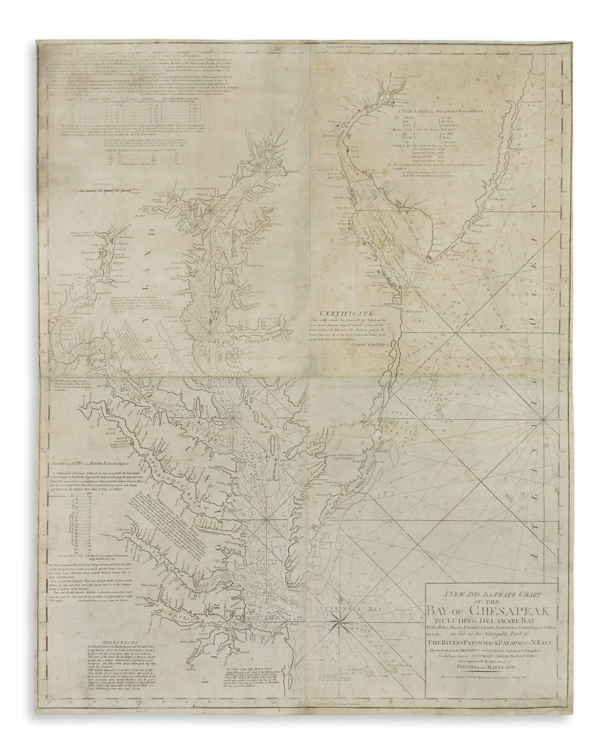 NORMAN-JOHN-and-WILLIAM-A-New-and-Accurate-Chart-of-the-Bay-