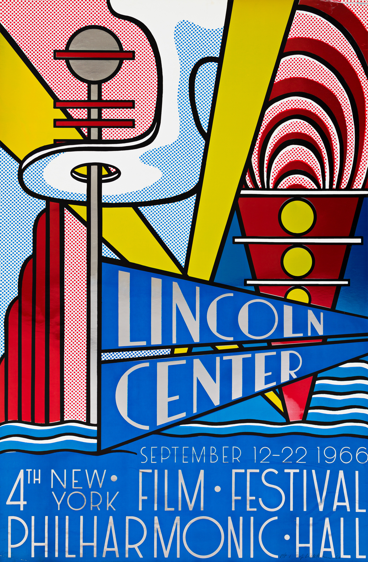 ROY LICHTENSTEIN Lincoln Center Poster.