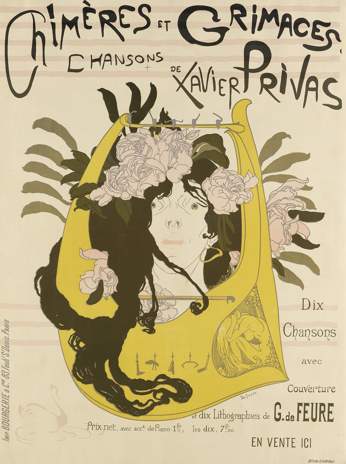 GEORGES-DE-FEURE-(1868-1943)-CHIMÈRES-ET-GRIMACES--CHANSONS-